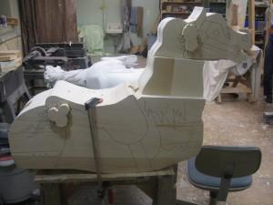 2013 Raffle Horse Carving Process 1